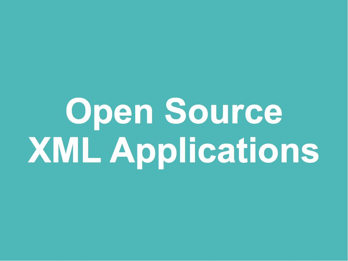 Open Source XML Applications