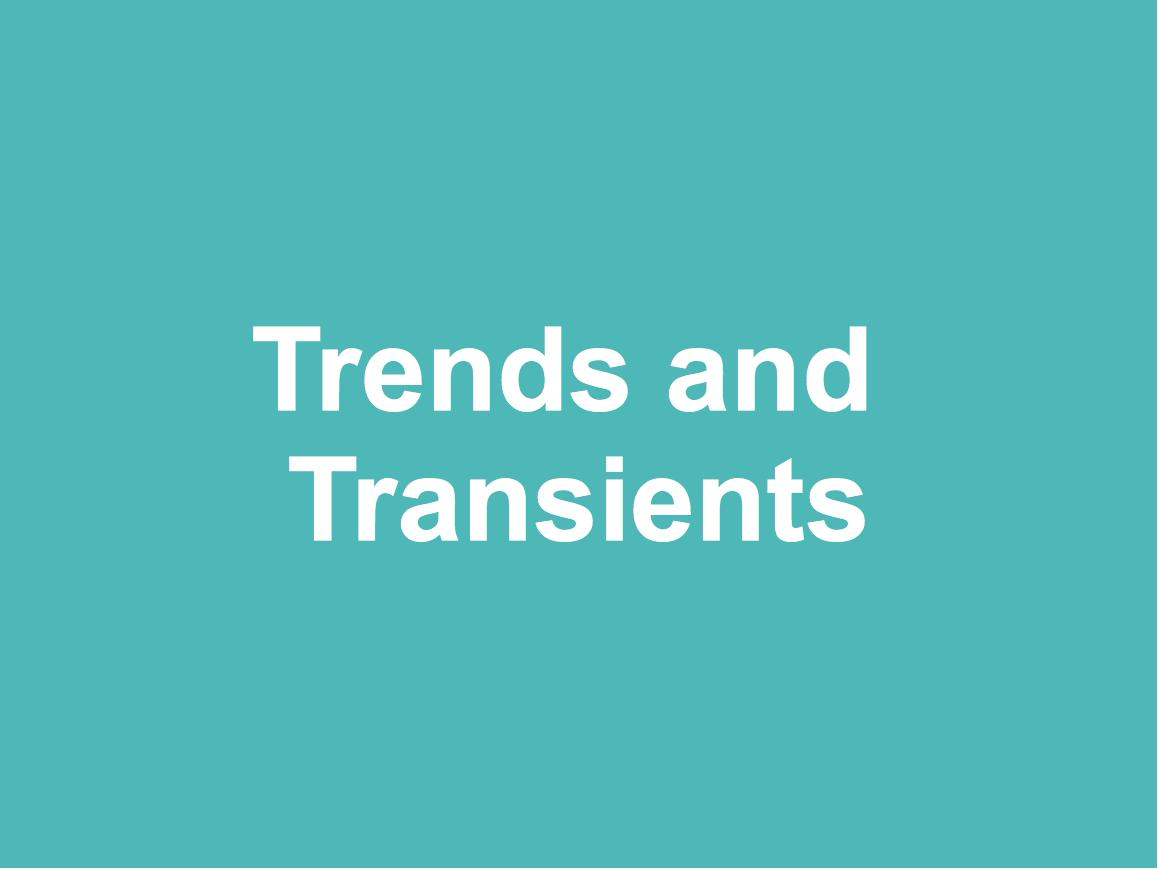 Trends and Transients
